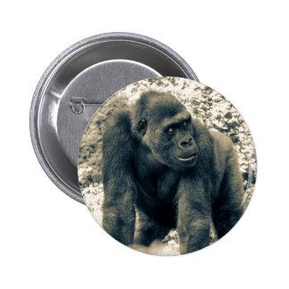 Gorilla Ape Primate Wildlife Photo Pins