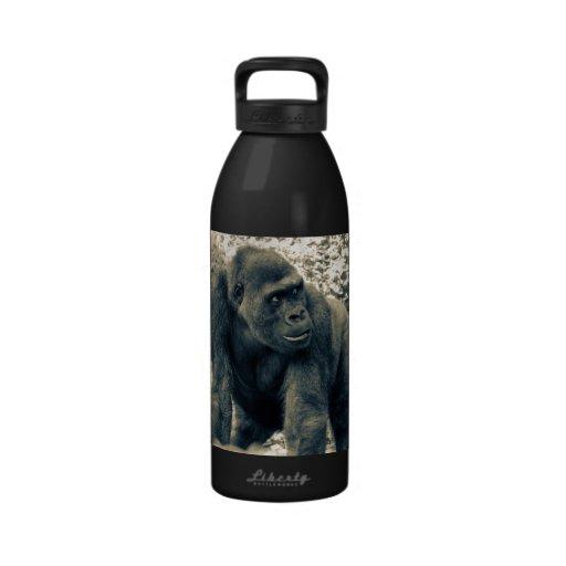 Gorilla Ape Primate Wildlife Photo Reusable Water Bottle