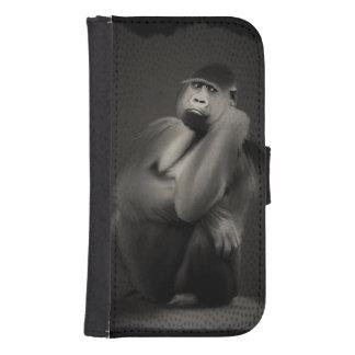 Gorilla Art Decor Galaxy S4 Wallets