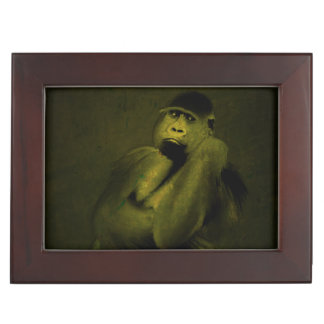 Gorilla Art Decor Keepsake Boxes