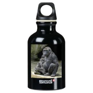 Gorilla Baby and Mom Aluminum Water Bottle