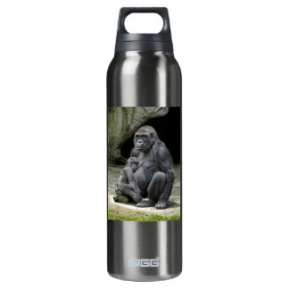 Gorilla Baby and Mom Insulated Water Bottle