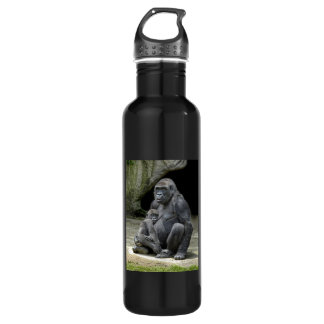Gorilla Baby and Mom Stainless Steel Water Bottle