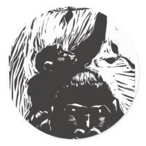 Gorilla Baby Classic Round Sticker