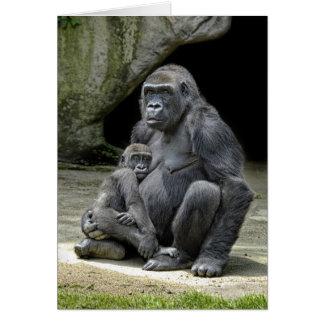 Gorilla Baby & Mom Card