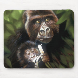 Gorilla & Baby Mouse Pad