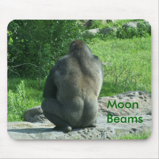 gorilla backside, Moon Beams Mouse Pad