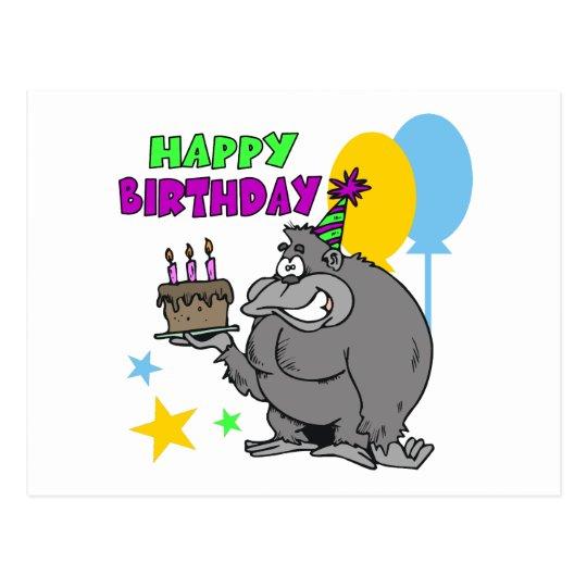 Gorilla Birthday Postcard