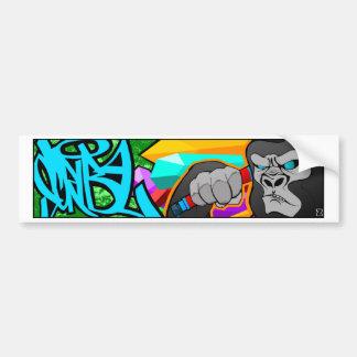 Gorilla Car Bumper Sticker