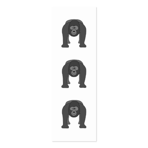 Gorilla Cartoon Double-Sided Mini Business Cards (Pack Of 20)