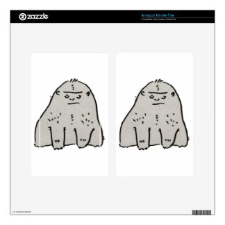 Gorilla Cartoon Kindle Fire Skin