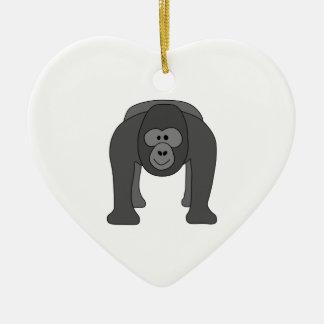 Gorilla Cartoon Christmas Ornament