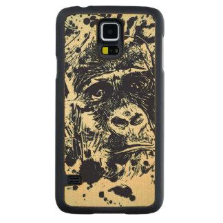 Gorilla Carved Maple Galaxy S5 Case