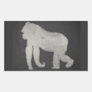 Gorilla Chalkboard Rectangular Sticker