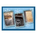 Gorilla Christmas Greeting Card