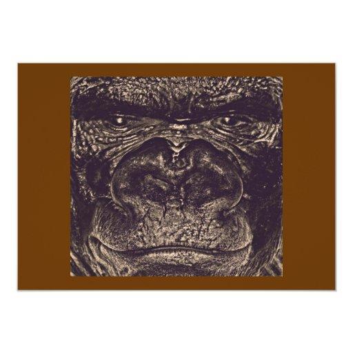 Gorilla, Close Up Face (gfaceacc) Personalized Invite