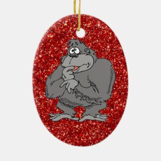 gorilla cute cartoon ornament