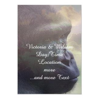 Gorilla Daydream 5x7 Paper Invitation Card