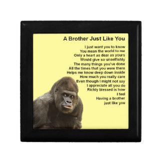 Gorilla Design - Brother Poem Jewelry Box