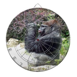 gorilla enjoy beautiful flower dartboard