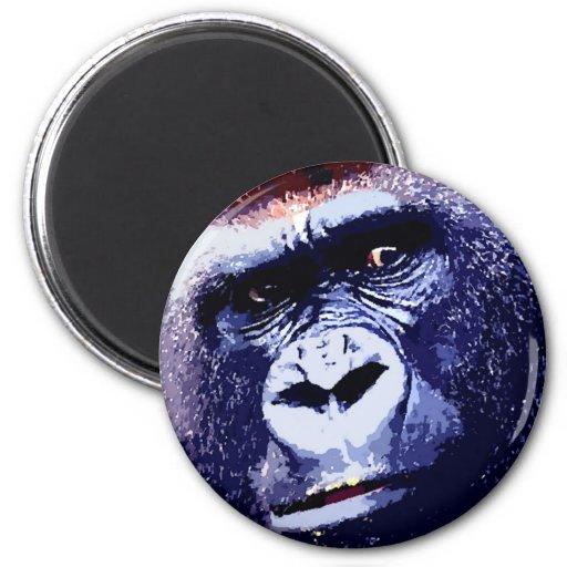 Gorilla Face 2 Inch Round Magnet