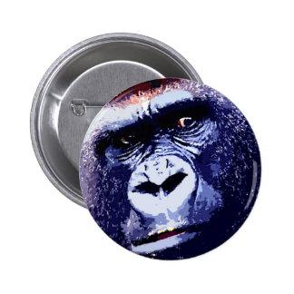 Gorilla Face Pinback Button