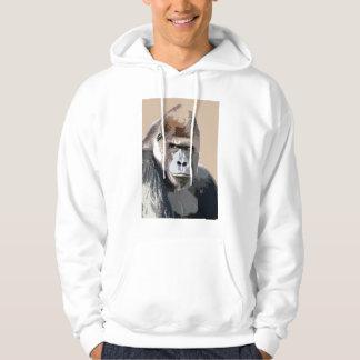 Gorilla Face Hoodie - Gorillas Shirts Animals