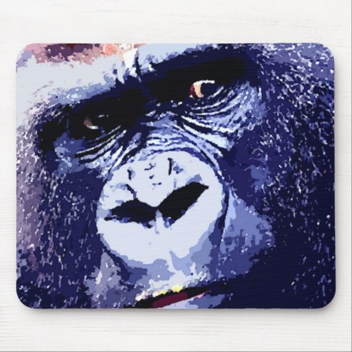 Gorilla Face Mouse Pad