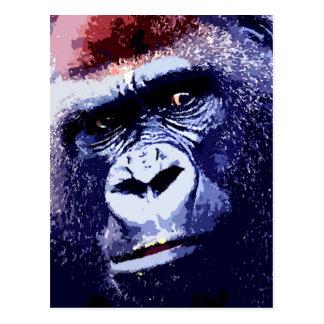 Gorilla Face Postcard