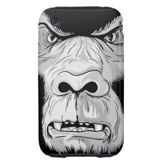 gorilla face realistic vector illustration iPhone 3 tough case