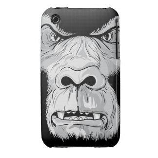 gorilla face realistic vector illustration iPhone 3 case