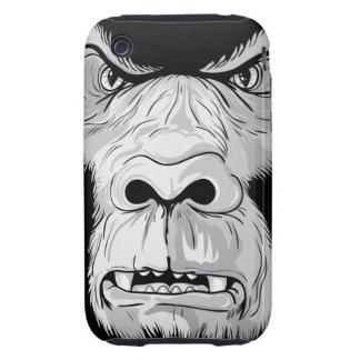 gorilla face realistic vector illustration tough iPhone 3 case