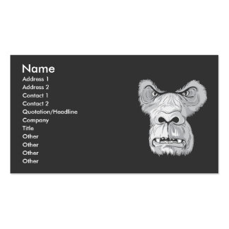gorilla face vector business card