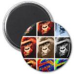 Gorilla Faces 2 Inch Round Magnet