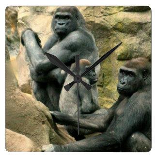 Gorilla Family Wall Clock