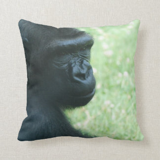 Gorilla Gaze Pillow