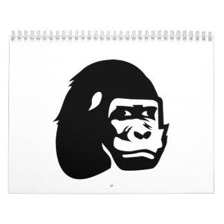 Gorilla head wall calendars