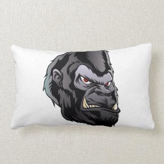 gorilla head illustration lumbar pillow