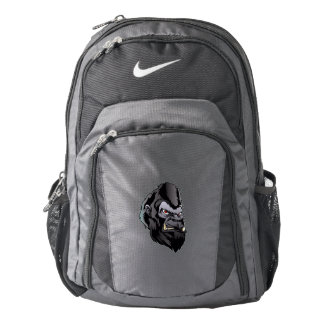 gorilla head illustration nike backpack