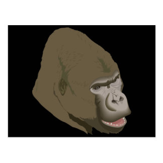 Gorilla head postcard