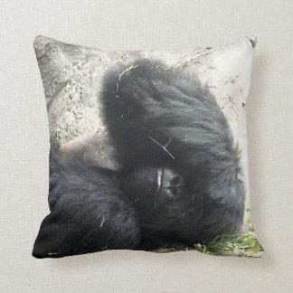 Gorilla Headache Throw Pillows