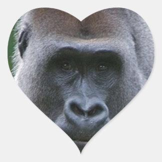 """""""Gorilla"""" Heart Sticker"""
