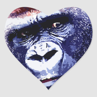 Gorilla Heart Sticker