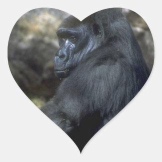 Gorilla Heart Sticker