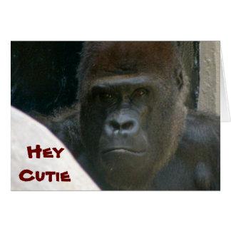 GORILLA, HEY CUTIE VALENTINE card