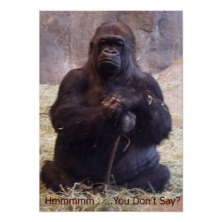 Gorilla - Hmmm You Don't Say? Poster