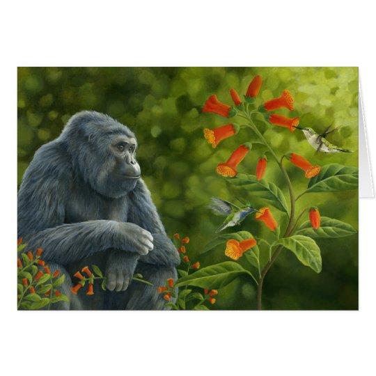 Gorilla & Hummingbirds Card