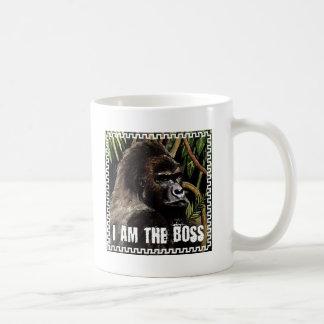 Gorilla i to the boss coffee mug