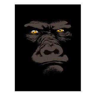 Gorilla in Black Postcard