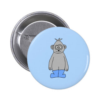 Gorilla in Blue Boots. Pinback Buttons